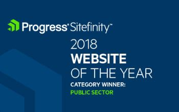 Progress Sitefinity Website of the Year 2018 - Category Public Sector