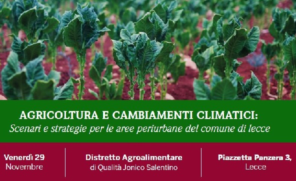 Workshop Agricoltura e cambiamenti climatici