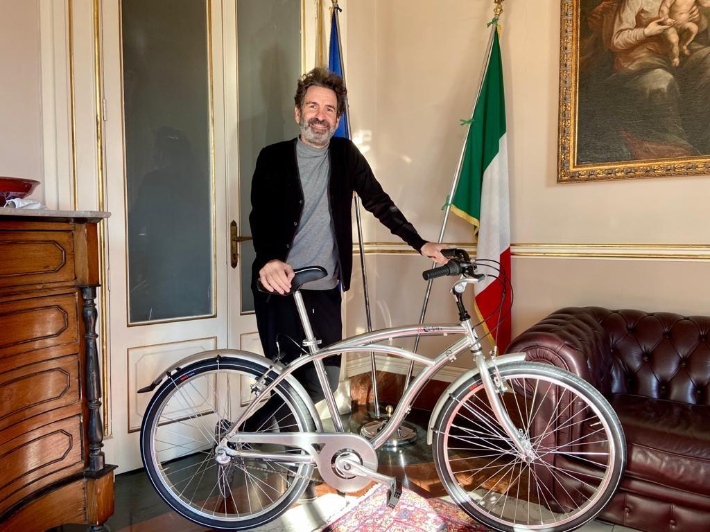 Sindaco Salvemini con Ricicletta