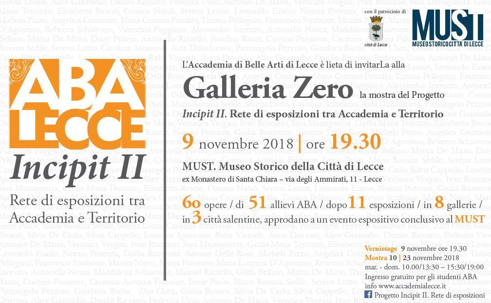 Invito Galleria Zero